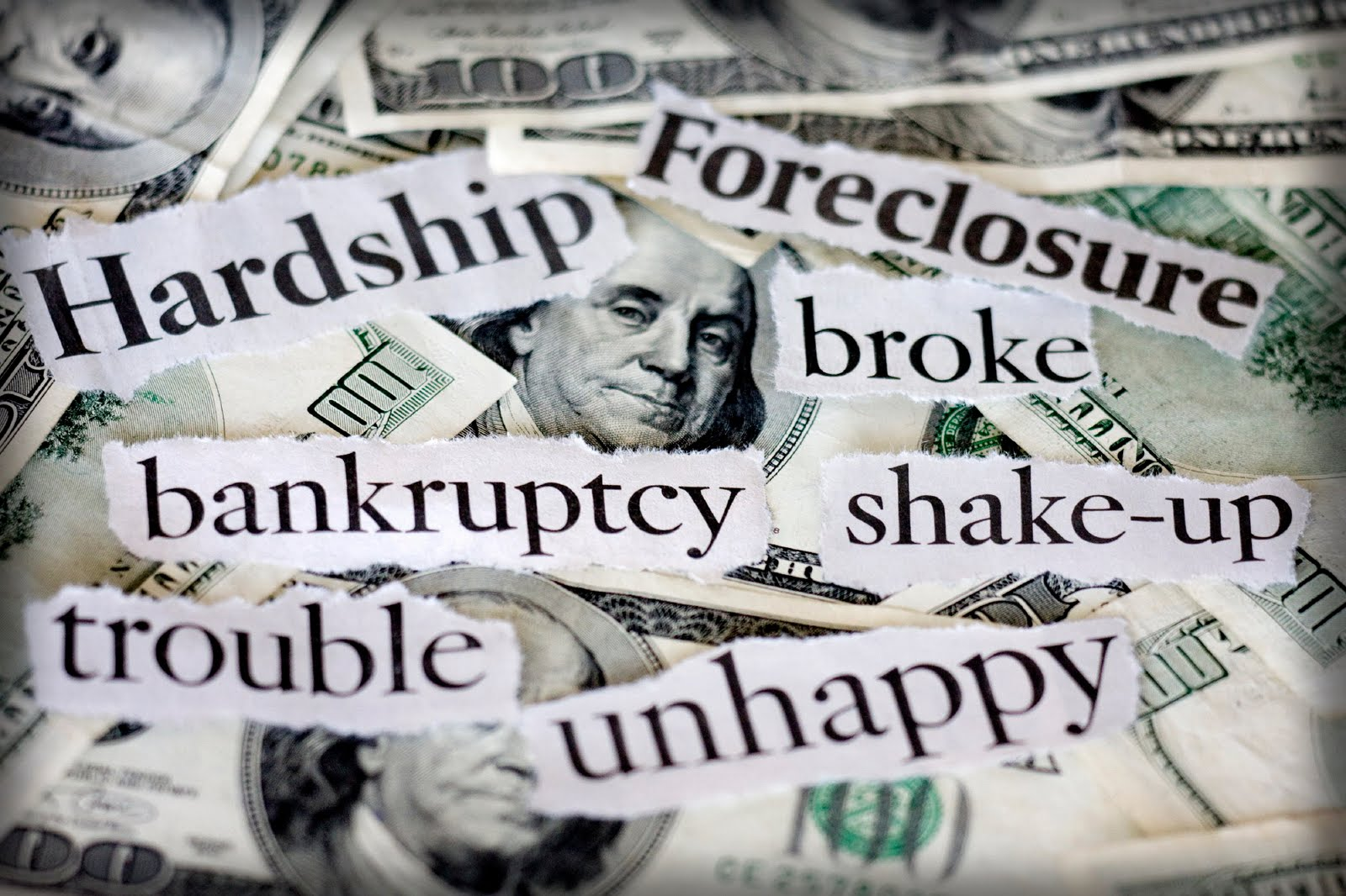 Signs to consider bankruptcy