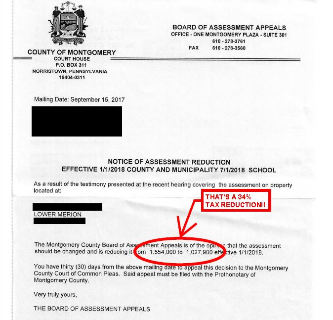 Tax Appeal Reduction